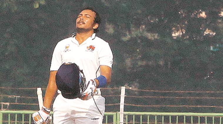 Prithvi Shaw ranji trophy, ranji trophy, cricket news, sports news, latest news, indian express