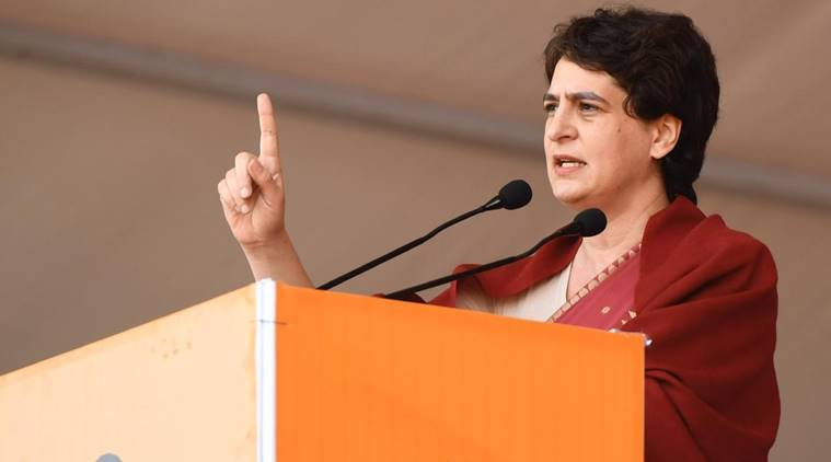 Congress leader priyanka gandhi vadra, Priyanka gandhi visit UP,Priyanka gandhi twitter, Samajwadi Party, Citizenship amendment act, Anti-CAA protestes, anti-NRC protests, Azamgarh, maulana jauhar park, Uttar pradesh news, indian national congress, india news, indian express news
