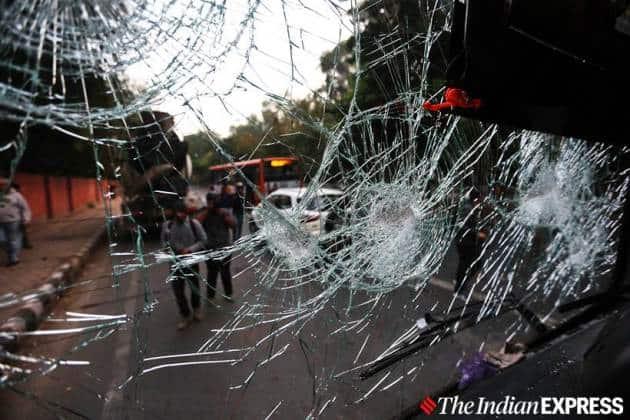 Delhi jamia photos, jamia protest photos delhi, delhi jamia citizenship protest, delhi protest photo, delhi jamia protest violence photos, indian express photos