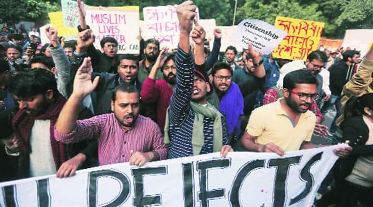 Protest in Delhi against CAB, NRC
