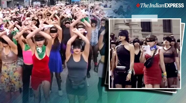 A Chilean protest song about rape culture and victim shaming becomes an international feminist anthem, A Rapist in Your Path protest song, Chile protest song, Chile crisis, Sebastian Pinera, Trending, Indian Express news