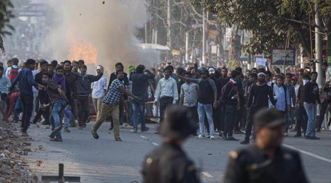 Assam witnesses violent anti-CAB protests, hundreds detained
