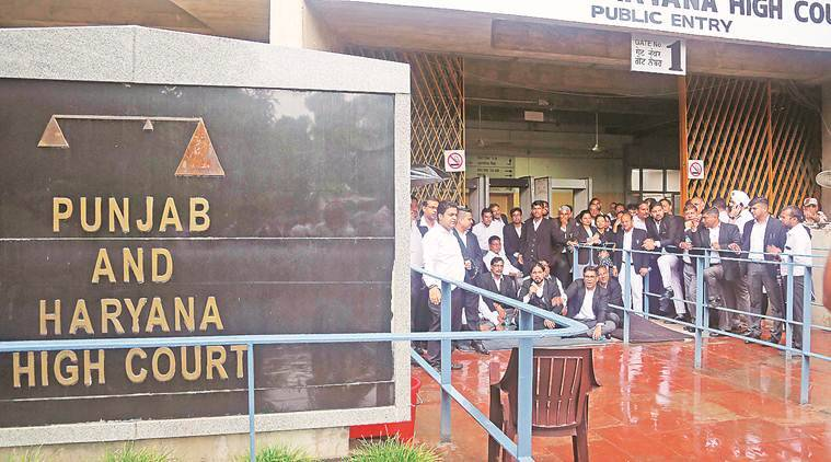 Punjab and Haryana High Court, Punjab HC, Gurgaon police, land grabbers cases, Indian express news