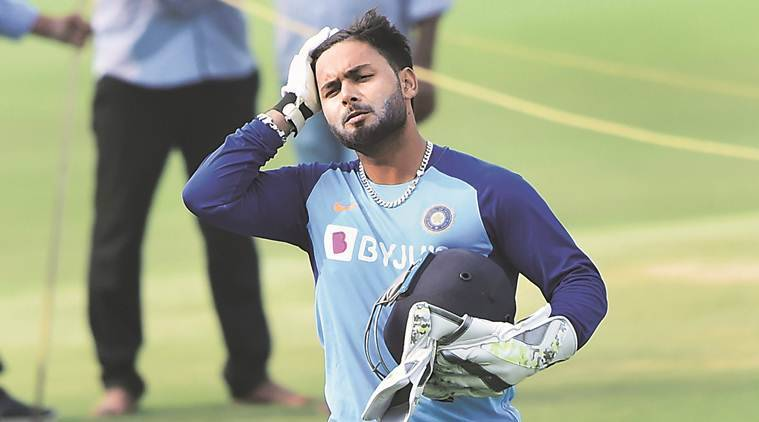 Rishabh Pant, Virat Kohli on Rishabh Pant, india vs west indies, ind vs wi, india cricket, india match, india vs west indies test, india cricket photos, india west indies photo