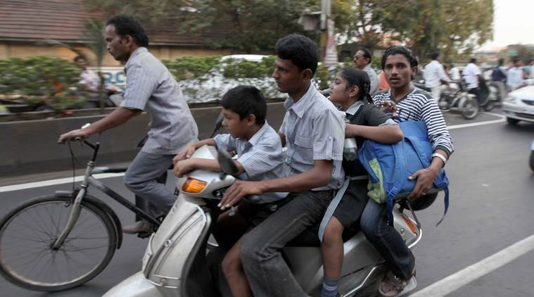 Pune: RTO to take action against parents ferrying two or more kids to school on two-wheelers