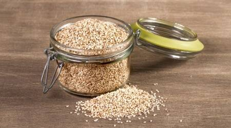 sesame seeds, beauty benefits of sesame seeds, health benefits of sesame seeds, sesame seeds or til benefits, sesame seeds in winter, indian express, skincare tips
