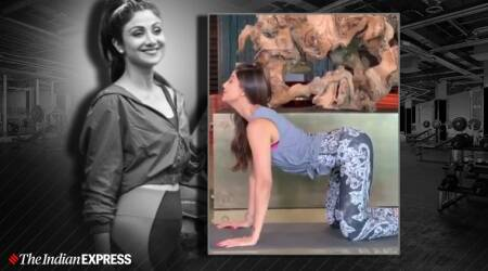 shilpa shetty kundra, cat camel pose, cat cow pose, indianexpress.com, indianexpress, shilpa shetty kundra fitness goals, shilpa shetty cat camel pose, what is a cat camel pose, marjaryasana bitilasana, how to do cat camel pose, cat cow pose, fitness goals,