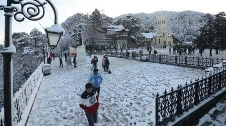 Shimla, Shimla snowfall, shimla Weather, snowfall in shimla, shimla christ church, shimla snow, shimla news, indian express