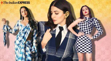 trend alert, how to wear checks, how to wear checks to the party, anushka sharma latest photos, shraddha kapoor latest photos. indian express, lifestyle