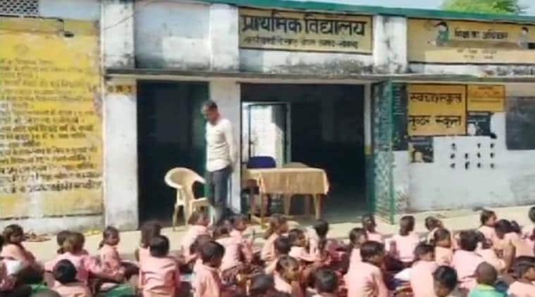 lucknow city news, sonbhadra school mixes milk with water, sonbhadra school headmaster suspended for mixing milk with water, UP school midday meals