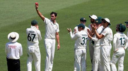 As Mitchell Starc takes fifer, umpire takes fall in Australia's domination over New Zealand