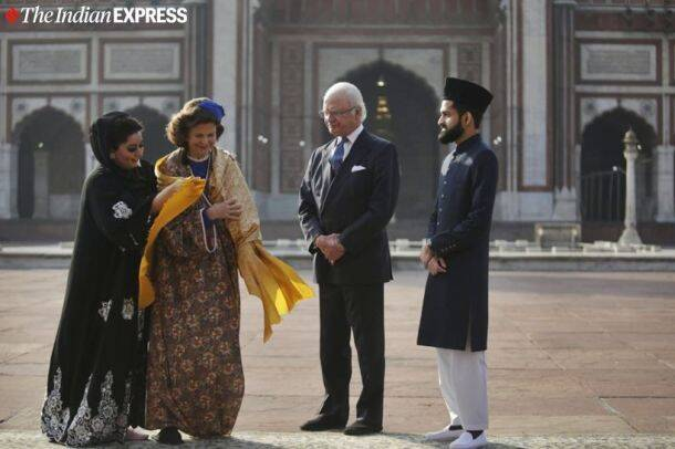 sweden royal couple in india, sweden king india visit, King Carl XVI Gustaf, Queen Silvia, swedish monarchy, india sweden relations, india news, indian express