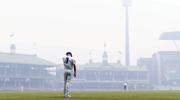 Sydney air pollution smog new delhi scg sheffield shield