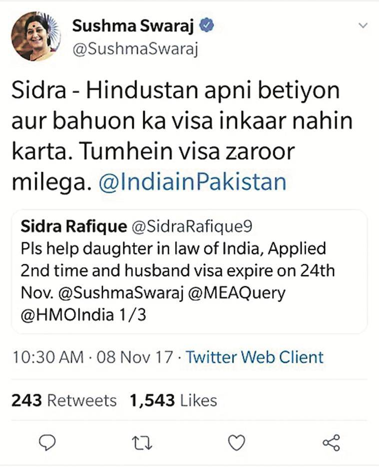 pakistan woman marriage with hindu man, long term visa from pakistan to india, sushma swaraj, pakistanis in punjab, punjab news