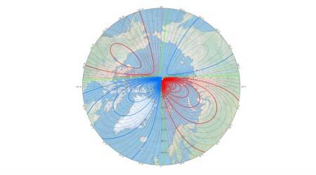 magnetic north shifting towards siberia, magnetic north drifting, north pole is moving, north pole moving fast