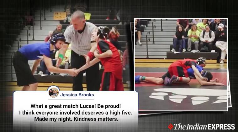 cerebral palsy, Lucas Lacina, Iowa wrestler, cerebral palsy wrestler viral video,