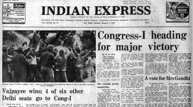 Forty Years Ago, January 7, 1980: Cong Set For Win