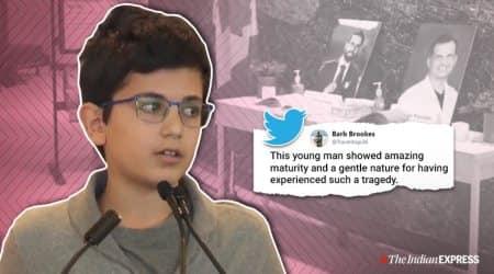 Boy's speech for father who died in terrorist attack, Iran US tension, Iran terrorist attack, Tran plane crash, Iran, US-Iran, Trending, Indian Express news