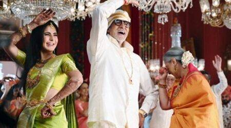 amitabh bachchan with katrina kaif and jaya bachchan