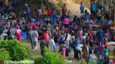 Bru migrants, Bru migrants displaced, Tripura Bru migrants, Bru migrants Tripura, Bru migrants Mizoram, northeast news, Indian Express