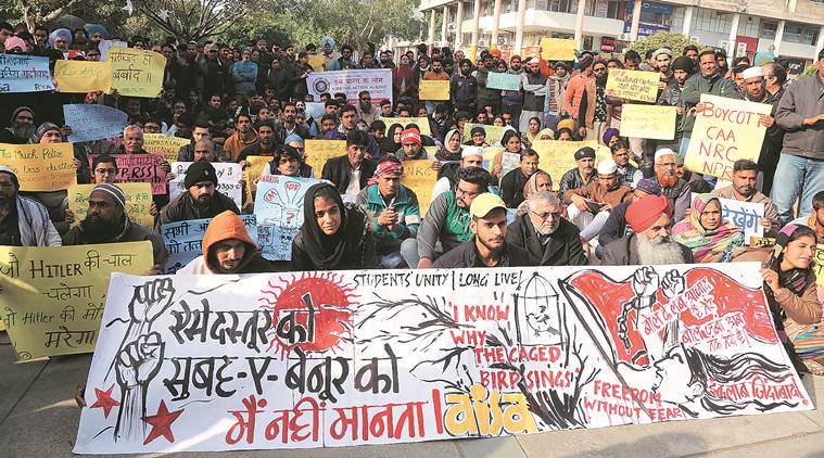 Chandigarh: Citizens Against Divide forum stages protest against CAA