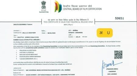 CBFC new certificate