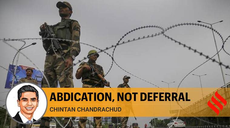 SC's decision not to decide on validity of communication lockdown in Kashmir is not just deferral, it is abdication