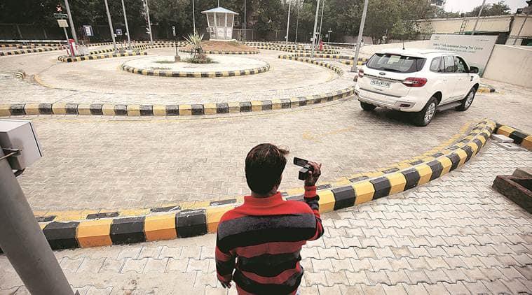 Delhi news, Delhi driving licence, driving licence Delhi, Delhi driving licence test, automated driving licence test Delhi, Delhi RTO, Delhi RTO test, indian express news