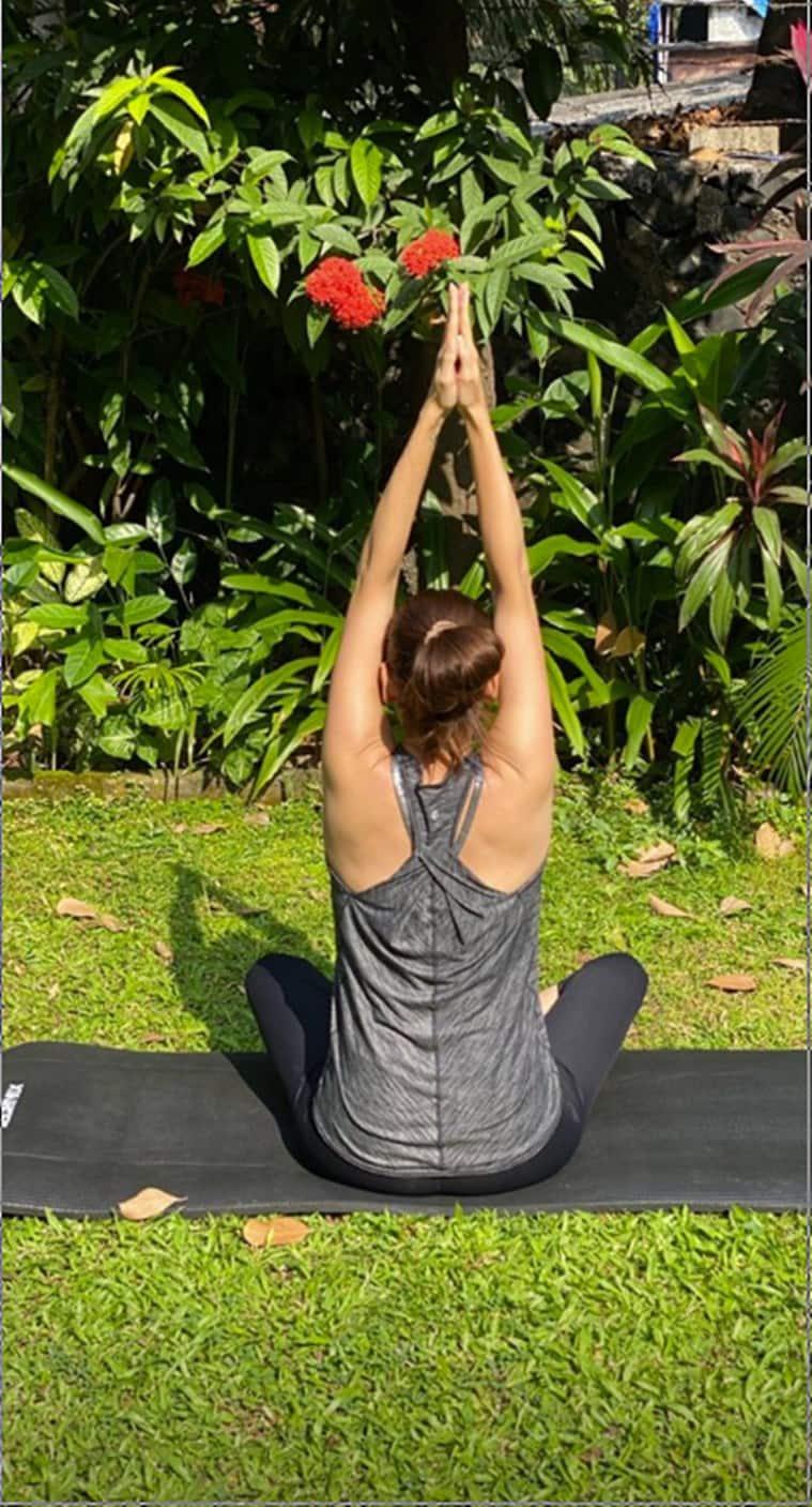 dia mirza, indianexpress.com, indianexpress, dia mirza yoga, miss asia pacific 2000, UN Goodwill ambassador, morning yoga, yoga benefits, celeb fitness, fitness goals,