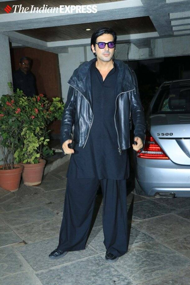 zayed khan at Goldie Behl birthday party