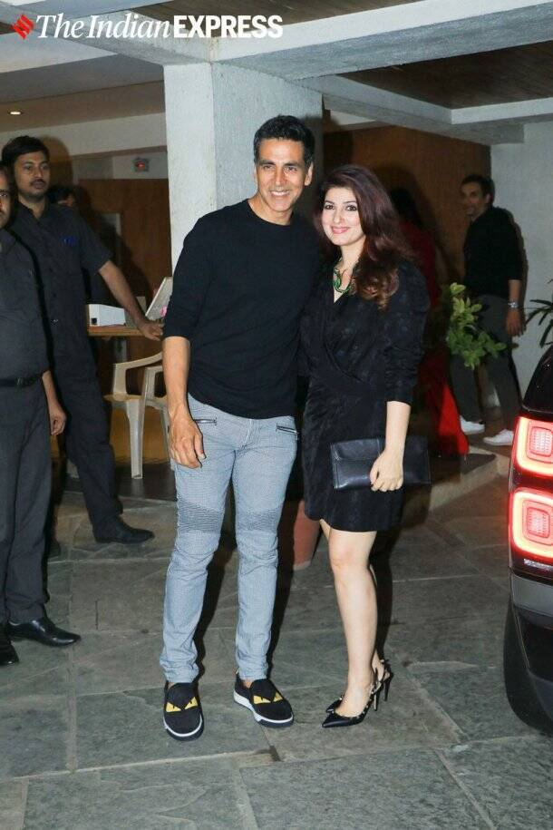 akshay kumar twinkle khanna at Goldie Behl birthday party