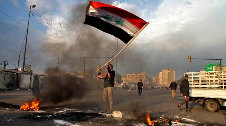 iraq public protests, iraq proxy war, iraqi populations reacts to us iran conflict, indian express