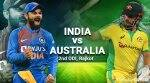 India vs Australia 2nd ODI Live Updates