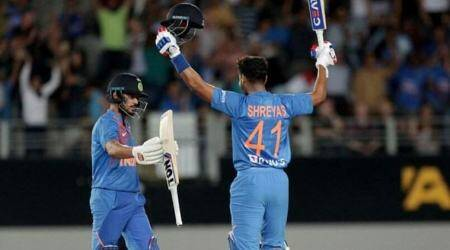Shreyas Iyer's quickfire 58 guides India to 6-wicket win over New Zealand