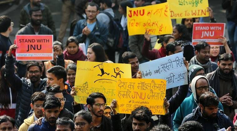 jagadeesh kumar, JNU violence JNU fee hike protest, JNU CAA protest, jnu attack, JNU vice chancellor interview, jnu news, indian express