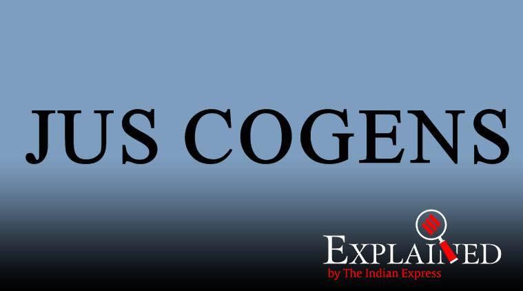 what is JUS COGENS, JUS COGENS meaning, iran Qassem Soleimani killing, US Iran general Qassem Soleimani killing, Donald Trump, Iran, Iran-US tensions, Iran air strikes, World news, Indian Express