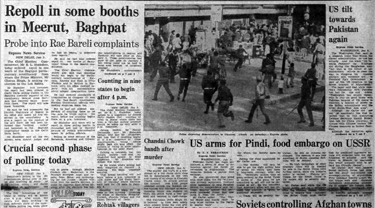 Charan Singh Baghpat, Soviet Afghanistan invasion 1980, 1980 Assam Unrest, Express archives, Forty Years ago