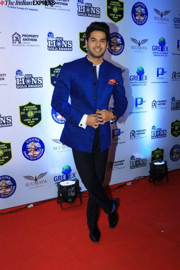 Abhimanyu Dassani at Lions Gold Awards 2020