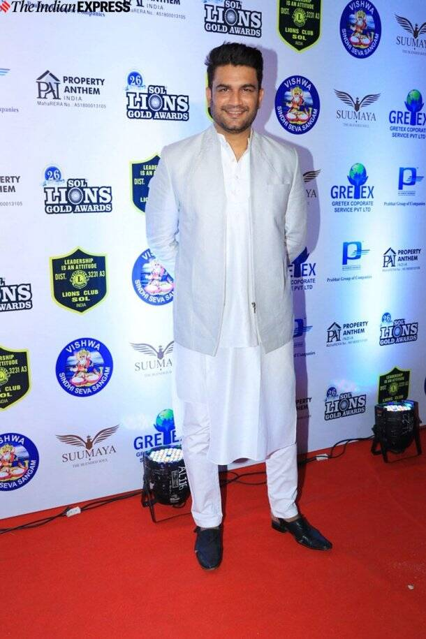 sharad kelkar at Lions Gold Awards 2020