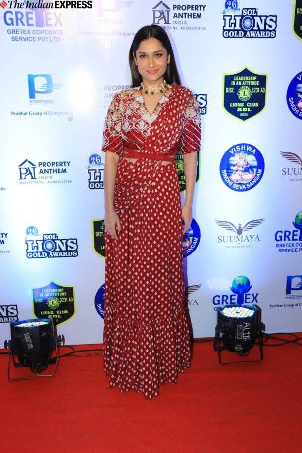 ankita lokhande at Lions Gold Awards 2020