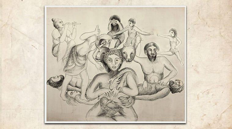 Navtej Sarna, manjit bawa, 1984 artwork, manjit bawa 1984, eye 2020, indianexpress, sundayeye, Punjab Partition, Prime Minister Indira Gandhi, who is manjit bawa,