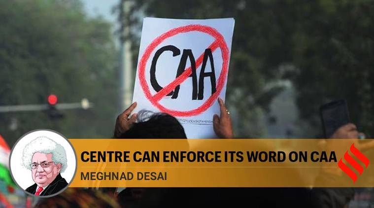 Centre can enforce its word on caa bjp government