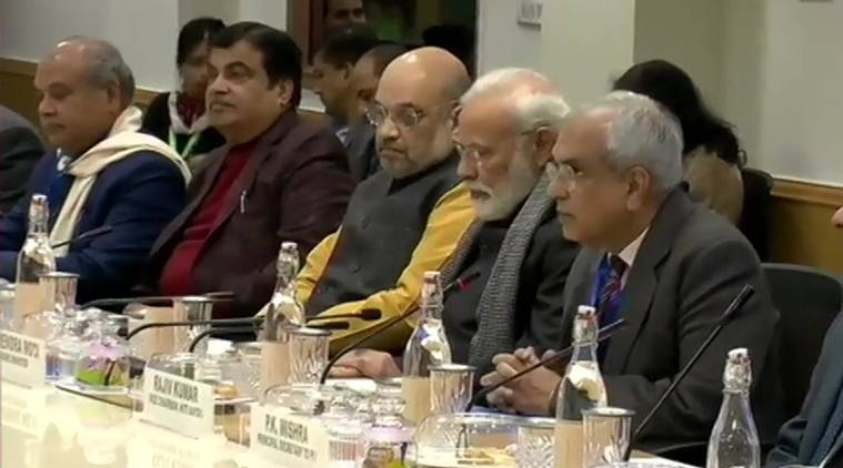 Nirmala Sitharaman absent as PM Modi meets economists