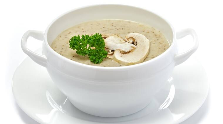 mushroom recipes, mushroom soups, indianexpress.com, indianexpress, types of mushrooms, mushroom types, cream of mushroom recipe sanjeev kapoor, who is sanjeev kapoor, cream of mushroom soup recipe, how to make cream of mushroom soup,