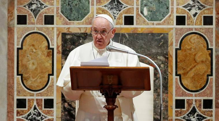 Pope francis, easter eve, Pope message o easter eve, world news. coronavirus outbreak, covid 19, indian express