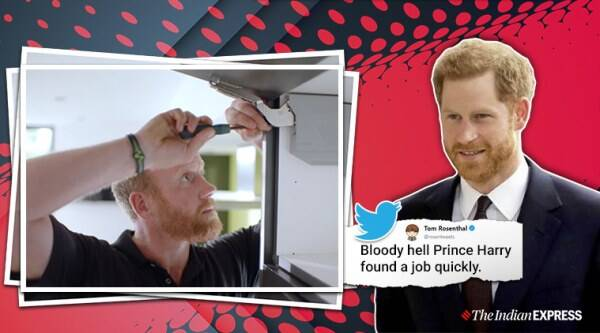 Prince Harry lookalike, Rated people advertisements, Prince Harry, Prince Harry gets a job, The British royal family, Duke of Sussex, Duke and Dutches of Sussex, Megan and Harry, Megxit, Trending, Indian Express news
