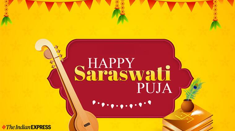 Happy saraswati puja images 2020 wishes quotes whatsapp messages status wallpapers pictures