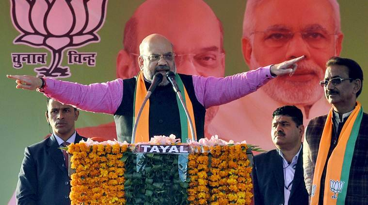 Amit Shah BJP Shaheen Bagh, Shaheen Bagh Delhi protest Amit Shah, Amit Delhi elections 2020, amit shah delhi election campaign, indian express news