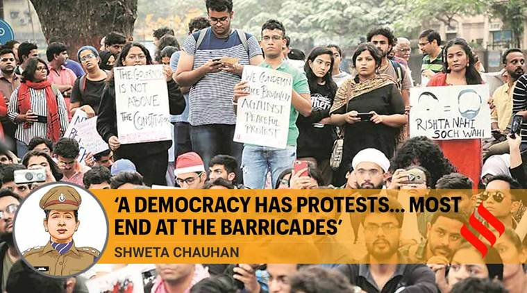 'A democracy has protests... most end at the barricades'