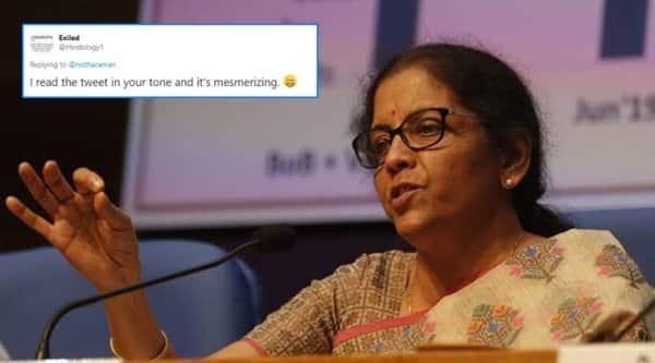Nirmala Sitharaman, Nirmala Sitharaman tweet, Swami Vivekananda, Sanjoy Ghose, twitter reactions, trending, indian express, indian express news